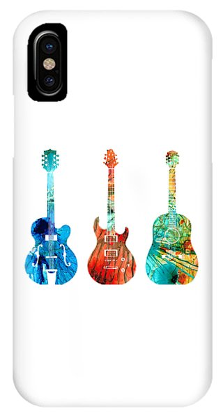 Music iPhone Case - Abstract Guitars By Sharon Cummings by Sharon Cummings
