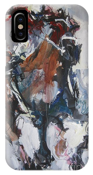 Abstract Horse Racing Painting IPhone Case