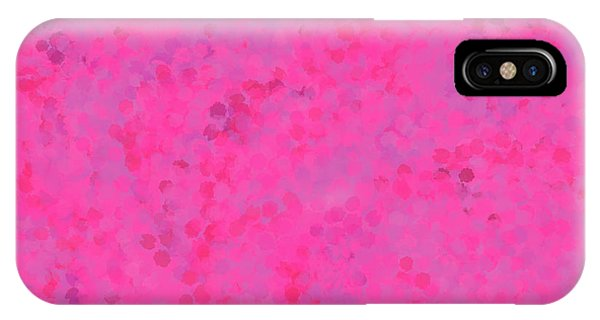 IPhone Case featuring the mixed media Abstract Hot Pink And Lilac 4 by Clare Bambers