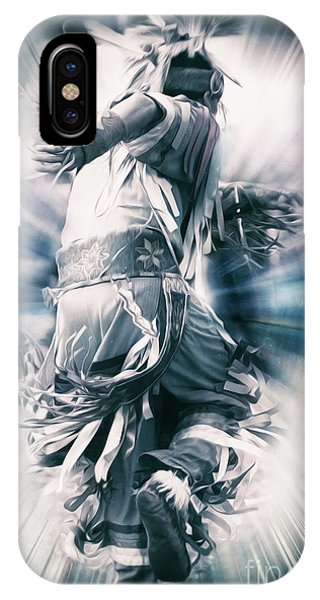 Native American Spirit Portrait iPhone Case - Abstract India Dance by Tom Gari Gallery-Three-Photography