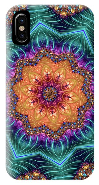 IPhone Case featuring the digital art Abstract Kaleidoscope Art With Wonderful Colors by Matthias Hauser