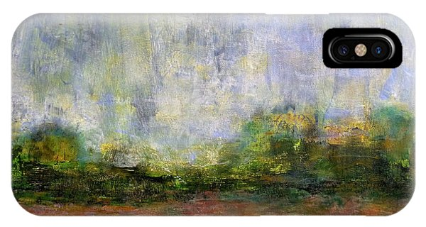 Abstract Landscape #310 - Spring Rain IPhone Case