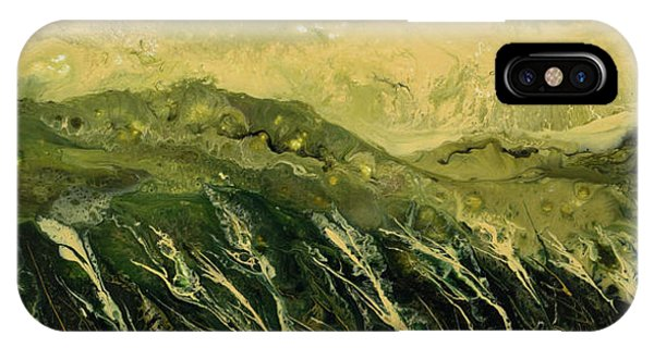 Lid iPhone Case - Abstract Landscape by Alexandra Kiczuk