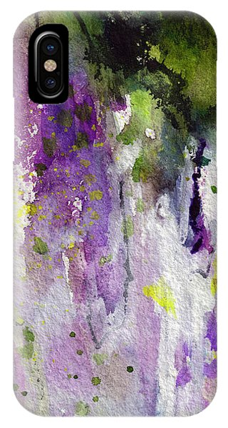Abstract Lavender Cascades IPhone Case