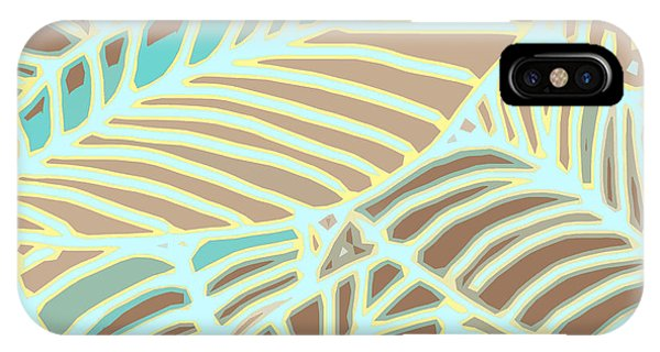 Abstract Leaves Coffee And Aqua IPhone Case