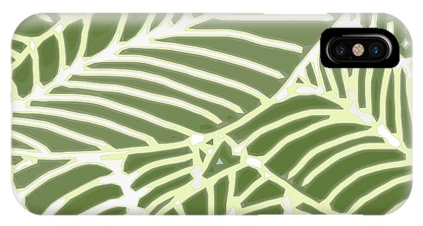Abstract Leaves Fern Green IPhone Case