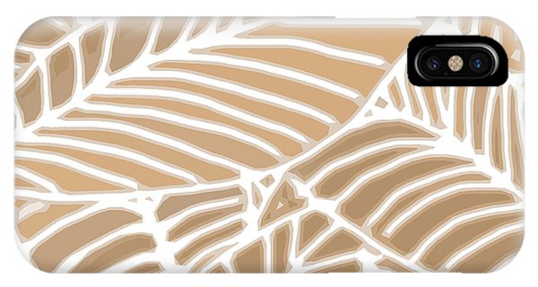 Abstract Leaves Iced Coffee Cutout IPhone Case