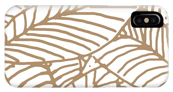 Abstract Leaves Iced Coffee IPhone Case
