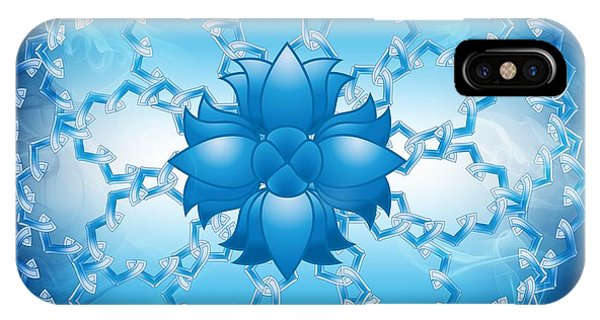 Abstract Lotus Flower Symbol IPhone Case