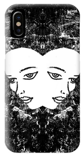 IPhone Case featuring the painting Abstract Majestic Lady 41115  by Mas Art Studio