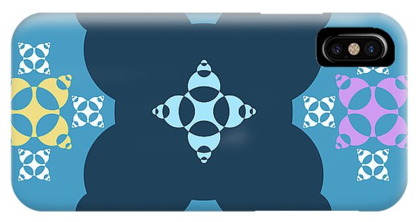 Arte iPhone Case - Abstract Mandala Blue, Dark Blue And Cyan Pattern For Home Decoration by Drawspots Illustrations