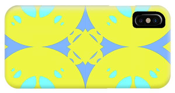 Arte iPhone Case - Abstract Mandala Cyan, Dark Blue And Green Pattern For Home Decoration by Drawspots Illustrations