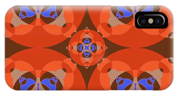 Arte iPhone Case - Abstract Mandala Orange, Brown, Blue And Cyan Pattern For Home Decoration by Drawspots Illustrations