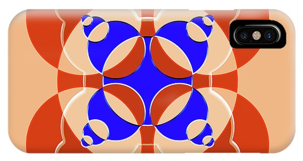 Arte iPhone Case - Abstract Mandala Pink, Orange And Blue Pattern For Home Decoration by Drawspots Illustrations
