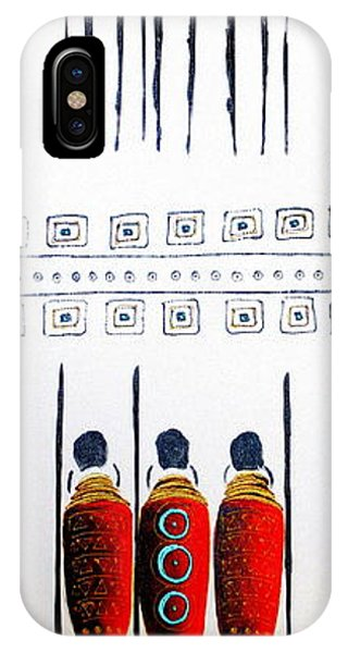 Abstract Masai Warriors IPhone Case