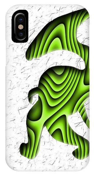 Abstract Monster Cut-out Series - Green Stroll IPhone Case