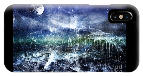Abstract Moonlit Seascape Painting 36a IPhone Case