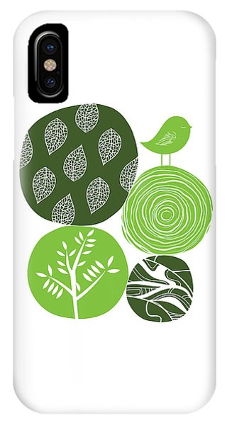 Abstract Nature Green IPhone Case
