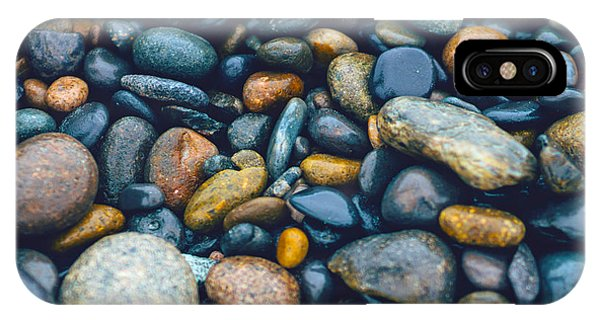 Abstract Nature Tropical Beach Pebbles 923 Blue IPhone Case
