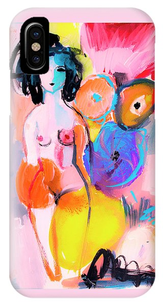 Abstract Nude With Flowers IPhone Case