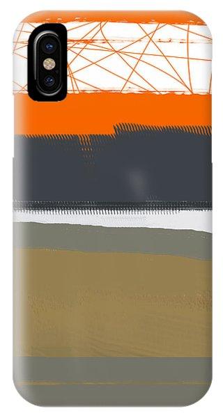 Form iPhone Case - Abstract Orange 1 by Naxart Studio