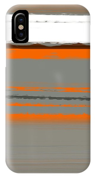Red iPhone X Case - Abstract Orange 2 by Naxart Studio