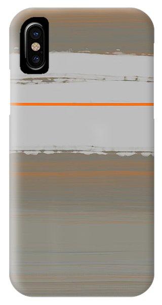 Form iPhone Case - Abstract Orange 4 by Naxart Studio
