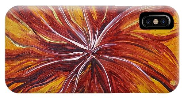 Abstract Orange Flower IPhone Case