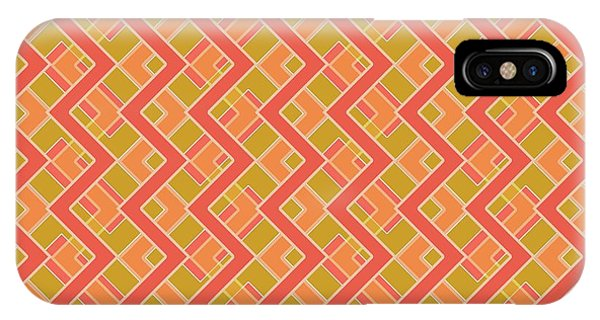 Arte iPhone Case - Abstract Orange, Red And Brown Pattern For Home Decoration by Drawspots Illustrations