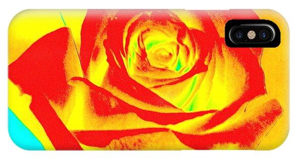 Single Orange Rose Abstract IPhone Case