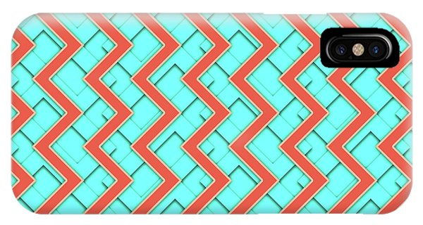 Arte iPhone Case - Abstract Orange, Yellow And Cyan Pattern For Home Decoration by Drawspots Illustrations