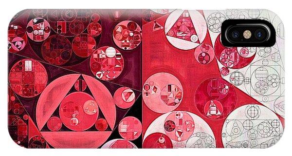 Scarlet Paintbrush iPhone Case - Abstract Painting - Dark Scarlet by Vitaliy Gladkiy