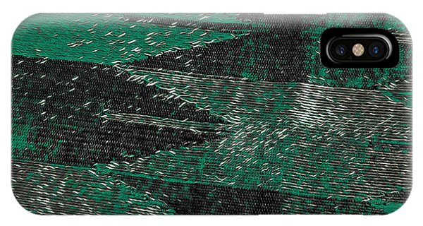 Abstract Pattern No.11 Green And Black IPhone Case