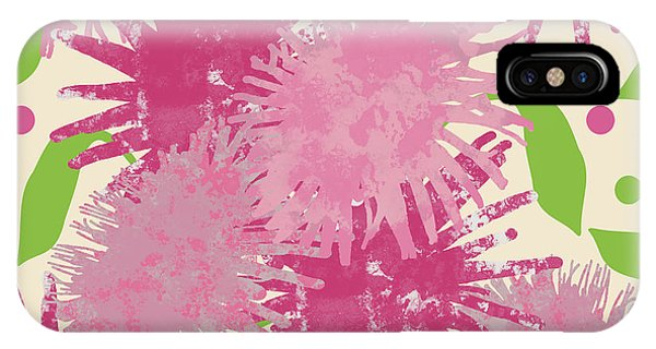 Abstract Pink Puffs IPhone Case