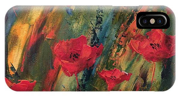 Abstract Poppies IPhone Case