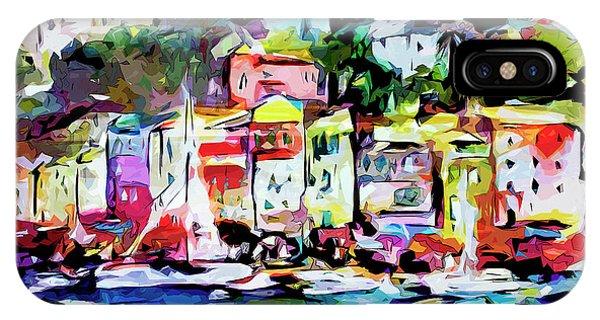 Abstract Portofino Italy Art  IPhone Case