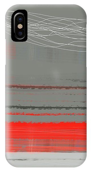 Shape iPhone Case - Abstract Red 2 by Naxart Studio