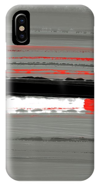 Abstract Red 4 IPhone Case