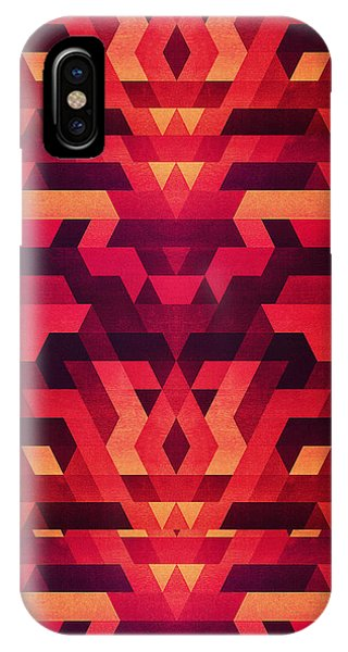 Abstract Red Geometric Triangle Texture Pattern Design Digital Futrure  Hipster  Fashion IPhone Case
