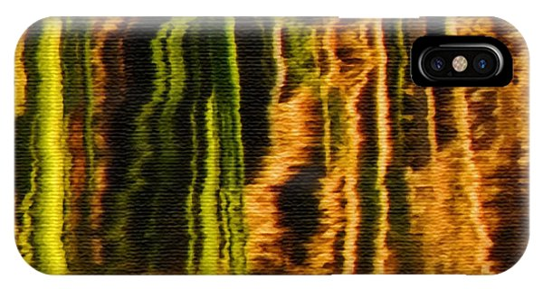 Abstract Reeds Triptych Middle IPhone Case