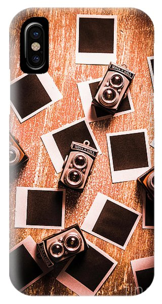 Famous Artist iPhone Case - Abstract Retro Camera Background by Jorgo Photography - Wall Art Gallery