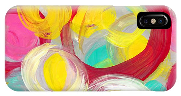 Abstract Rose Garden In The Morning Light Panoramic IPhone Case