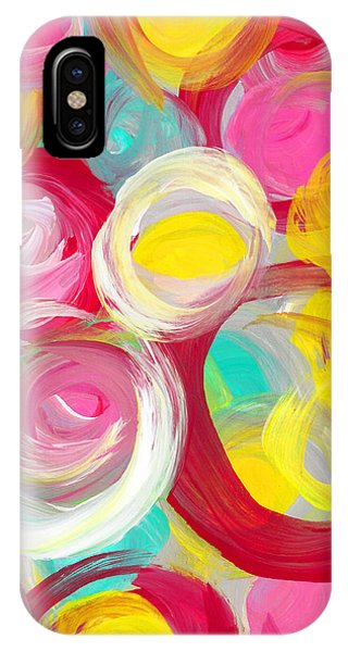 Abstract Rose Garden In The Morning Light Vertical 2 IPhone Case