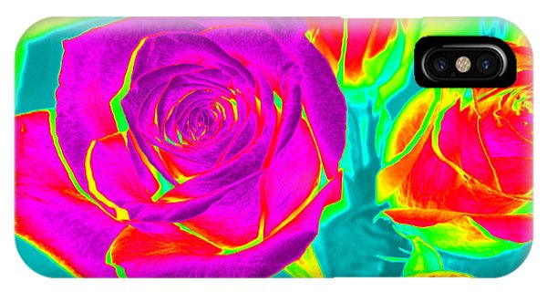Blooming Roses Abstract IPhone Case