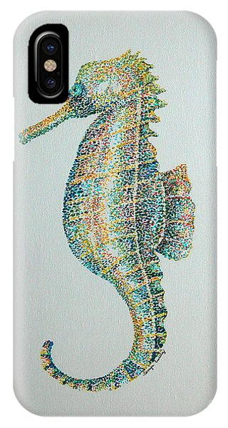 Abstract Seahorse IPhone Case