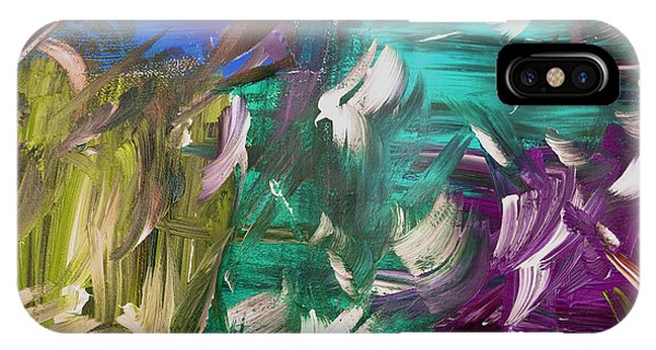 IPhone Case featuring the painting Abstract Series E1015bl by Mas Art Studio