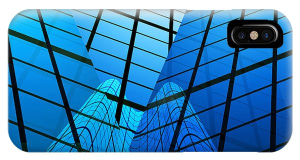 Reflection iPhone Case - Abstract Skyscrapers by Setsiri Silapasuwanchai