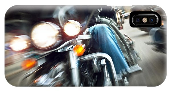 Abstract Slow Motion Bikers Riding Motorbikes Phone Case by Anna Om