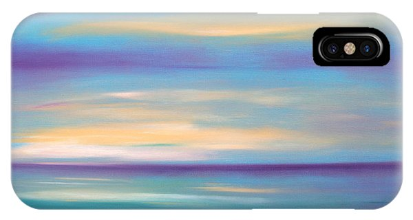 Abstract Sunset In Purple Blue And Yellow IPhone Case