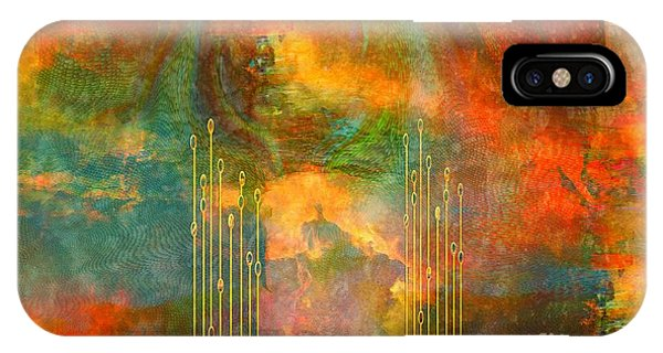 Sherri iPhone Case - Abstract The World As It Is  by Sherri's - Of Palm Springs